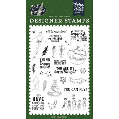 Echo Park Lost in Neverland Clear Stamps - Off to Neverland