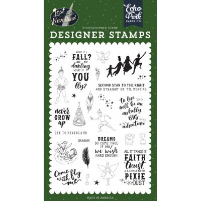 Echo Park Lost in Neverland Clear Stamps - Never Grow Up