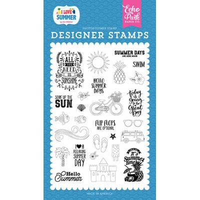 Echo Park Clear Stamps I Love Summer - It's Summer