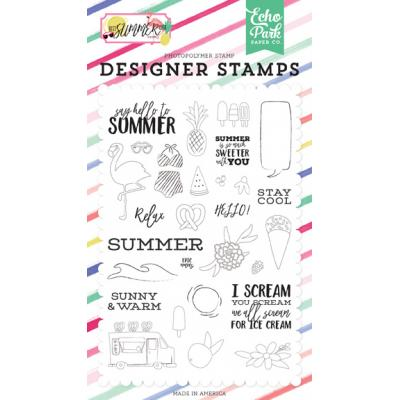Echo Park Clear Stamps Best Summer Ever - Hello To Summer