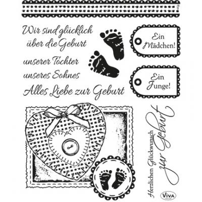 Viva Decor Clear Stamps - Geburt