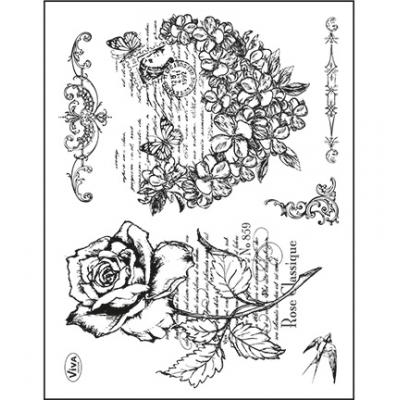 Viva Decor Clear Stamps - Blumenherz & Rose
