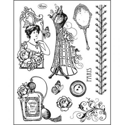 Viva Decor Clear Stamps - Paris Couture