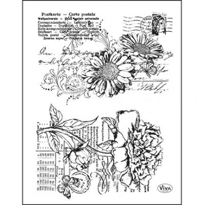 Viva Decor Clear Stamps - Gerbera & Pfingstrose