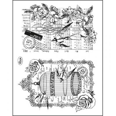 Viva Decor Clear Stamps - Vogelkäfig & Schwalben