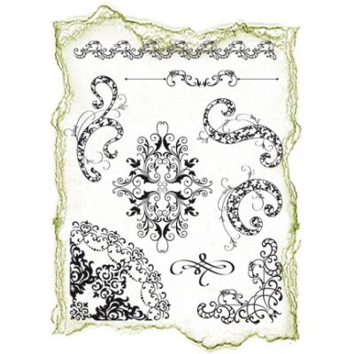 Viva Decor Clear Stamps - Florale Muster