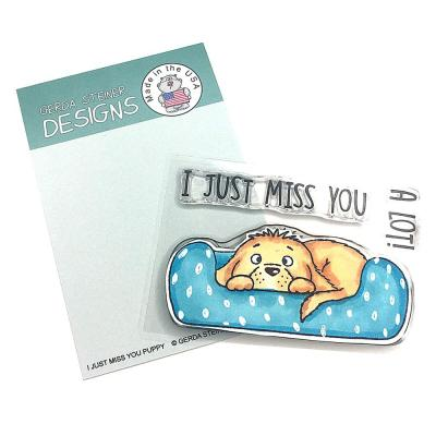 Gerda Steiner Clear Stamps - I Just Miss You Puppy