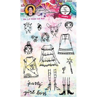 StudioLight Clear Stamps - Girl Boss