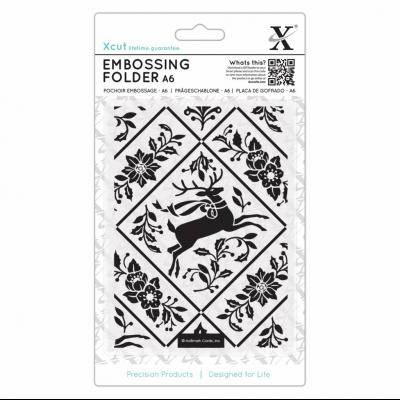 Xcut Embossing Folder - Stag and Ivy