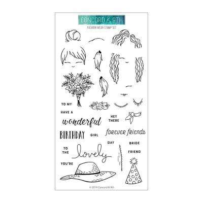 Concord & 9th Clear Stamps - Fashion Wear