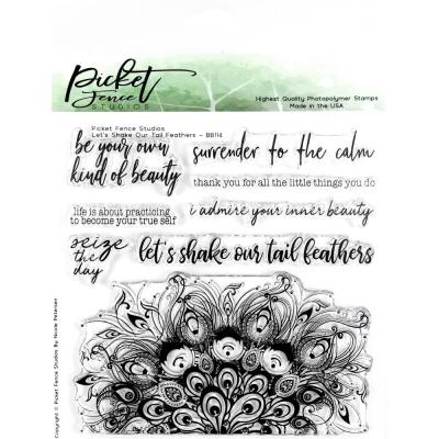 Picket Fence Studios Clear Stamps - Let's Shake Our Tail Feathers
