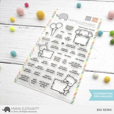 Mama Elephant Clear Stamps - Big News