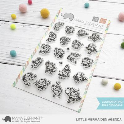 Mama Elephant Clear Stamps - Little Mermaiden Agenda