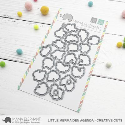 Mama Elephant Creative Cuts - Little Mermaiden Agenda