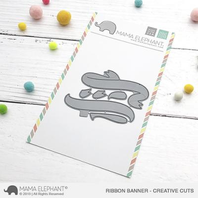 Mama Elephant Creative Cuts - Ribbon Banner