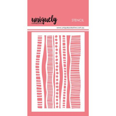Uniquely Creative Clear Stencil -  Indigenous Stripes