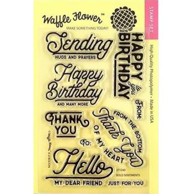 Waffle Flower Crafts Clear Stamps - Bold Sentiments