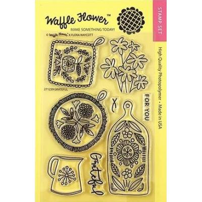 Waffle Flower Crafts Clear Stamps - Grateful