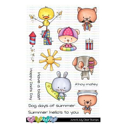 C.C.Designs Clear Stamps - June & July