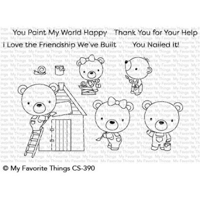 My Favorite Things Clear Stamps - Builder Bears