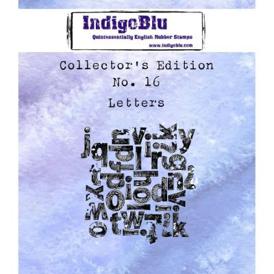 IndigoBlu Rubber Stamp A7 - Letters