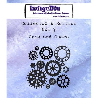 IndigoBlu Rubber Stamp A7 - Cogs And Gears