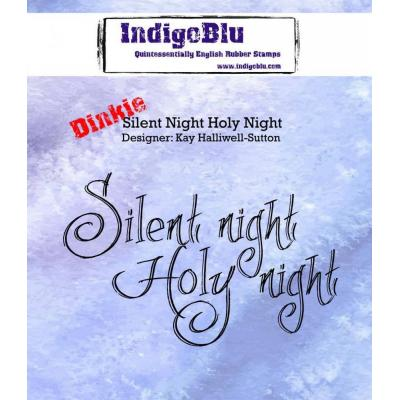 IndigoBlu Rubber Stamp A7 - Silent Night Holy Night