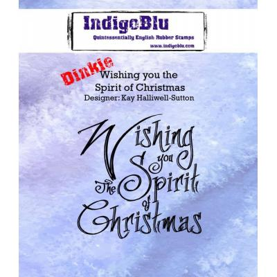 IndigoBlu Rubber Stamp A7 - Wishing You The Spirit Of Christmas