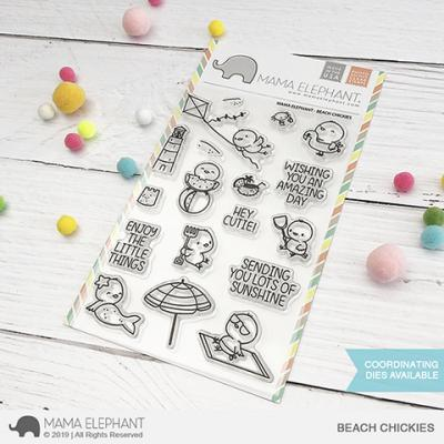 Mama Elephant Clear Stamps - Beach Chickies