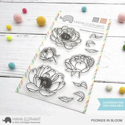 Mama Elephant Clear Stamps - Poenies In Bloom