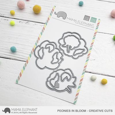 Mama Elephant Creative Cuts - Peonies In Bloom