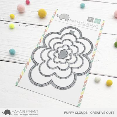 Mama Elephant Creative Cuts - Puffy Clouds