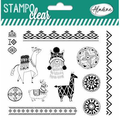 Aladine Clear Stamps - Llamas