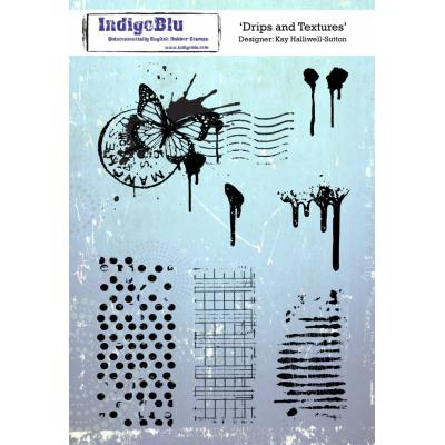 IndigoBlu Rubber Stamp2 - Drips and Textures