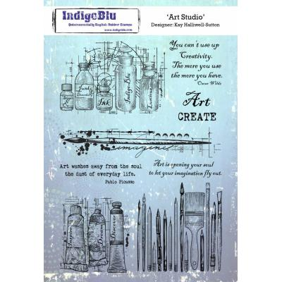 IndigoBlu Rubber Stamp - Art Studio
