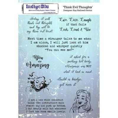 IndigoBlu Rubber Stamp2 - Think Evil Thoughts