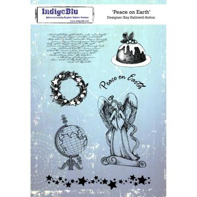 IndigoBlu Rubber Stamp2 -  Peace On Earth