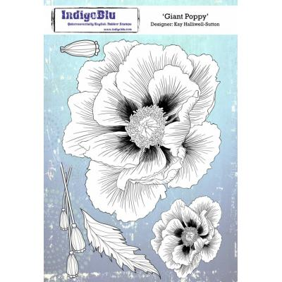 IndigoBlu Rubber Stamp - Giant Poppy
