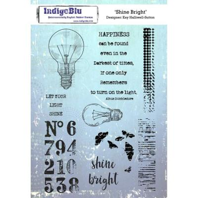 IndigoBlu Rubber Stamp2 - Shine Bright