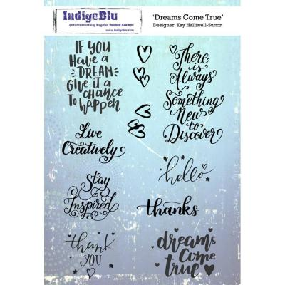 IndigoBlu Rubber Stamp2 - Dreams Come True