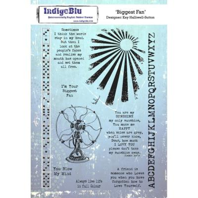 IndigoBlu Rubber Stamps - Biggest Fan