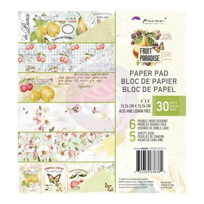 Prima Marketing Paper Pad 6 Inch - Fruit Paradise