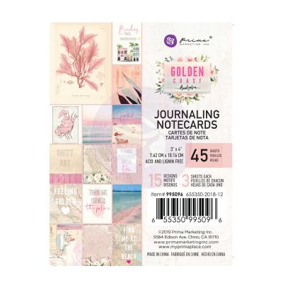 Prima Marketing Golden Coast  - Journaling Cards