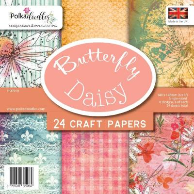 Polkadoodles Paper Pack - Butterfly Daisy