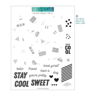 Concord & 9th Clear Stamps - Cool Treats Turnabout