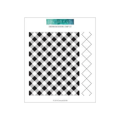 Concord & 9th Clear Stamps - Gingham Background