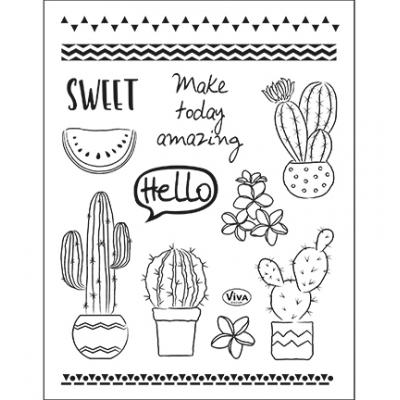 Viva Decor Clear Stamps - Kaktus