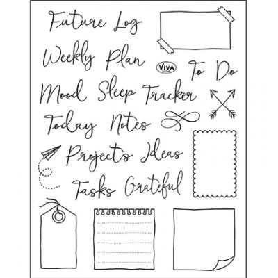 Viva Decor Clear Stamps - Bujo/Kalender Notes, Tracker & Co.