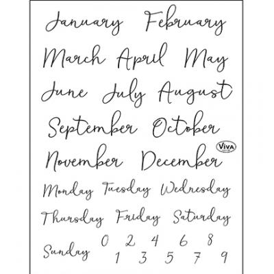 Viva Decor Clear Stamps -  Bujo/Kalender Monate