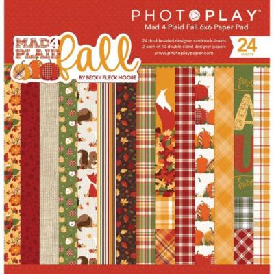 PhotoPlay Mad 4 Plaid Fall - Paper Pad